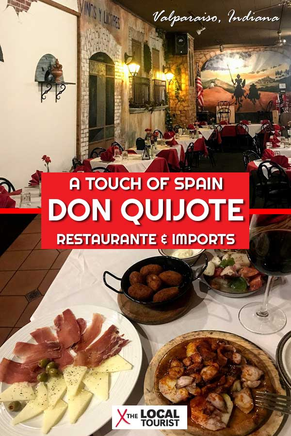 Don Quijote Restaurante and Imports is a restaurant an hour south of Chicago in Valparaiso, Indiana, that offers authentic Spanish cuisine and souvenirs. Indiana restaurants. Spanish restaurants. Places to eat in Valparaiso
