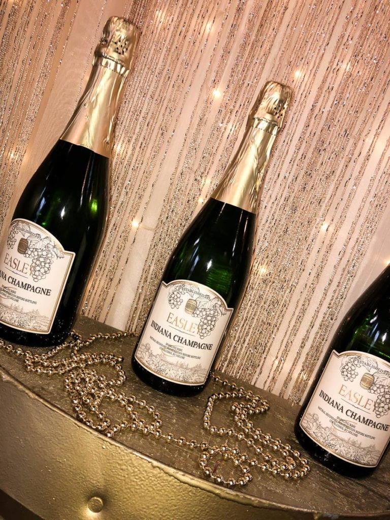 Indiana Champagne from Easley Winery, photo credit Haley DeHaan