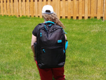 Standard Luggage Co. Carry-on Backpack is well balanced