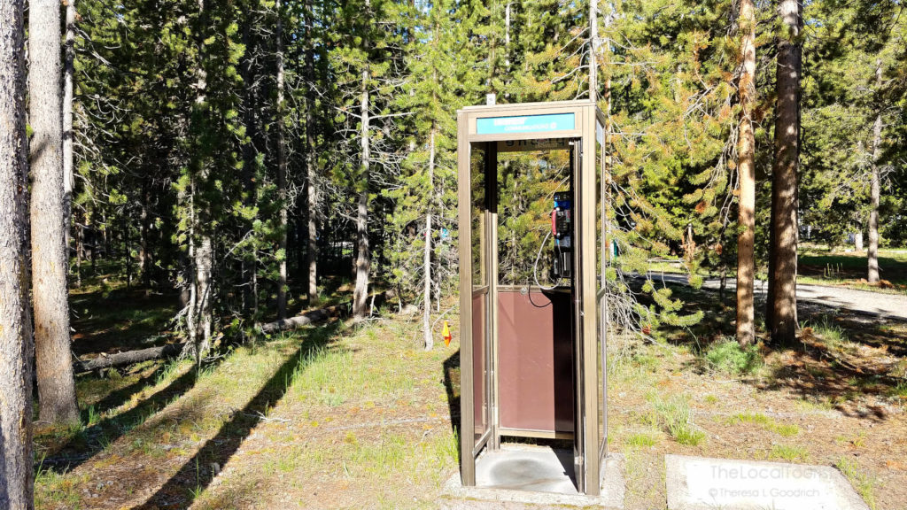 Phone booth in Madison Campground