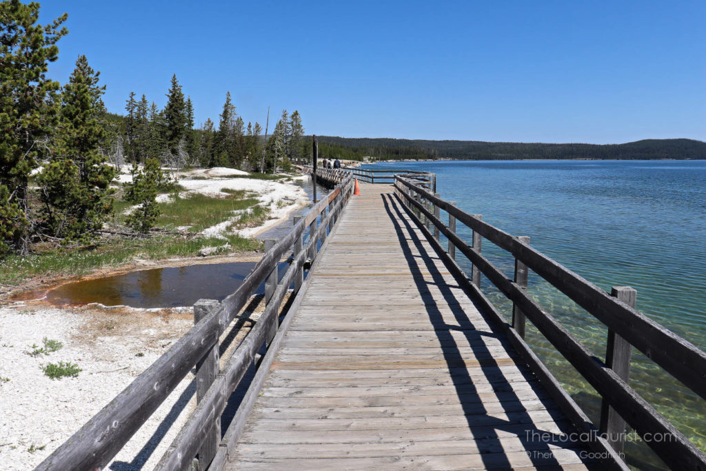 Juxtaposition of Yellowstone Lake and the West Thumb Geyser Basin