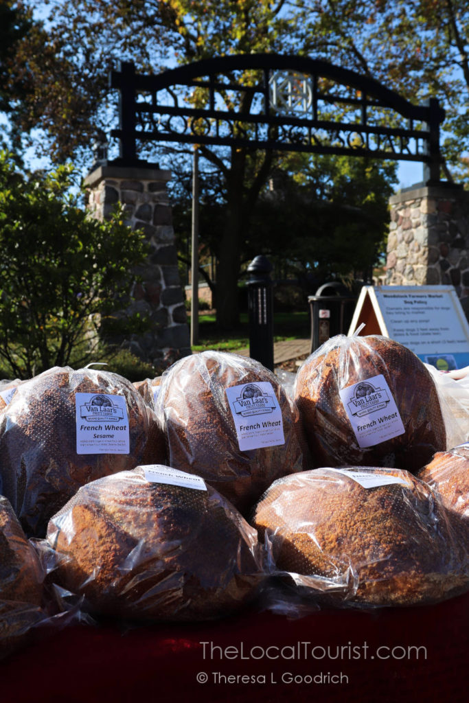 Fresh baked bread at Woodstock Farmers Market
