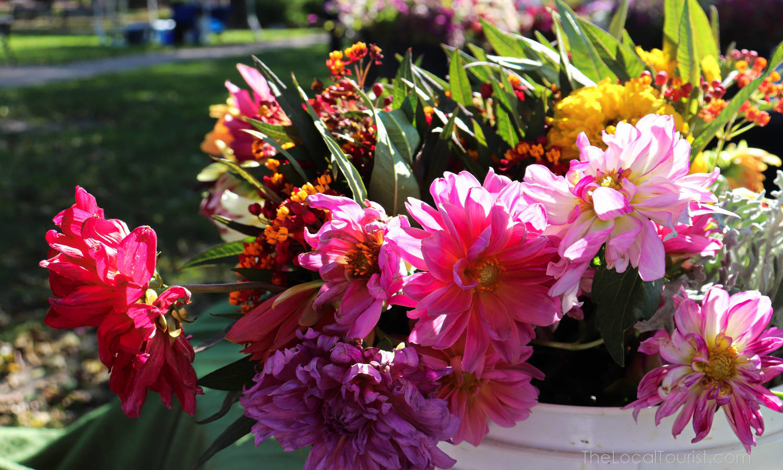 Flowers at Woodstock Farmers Market