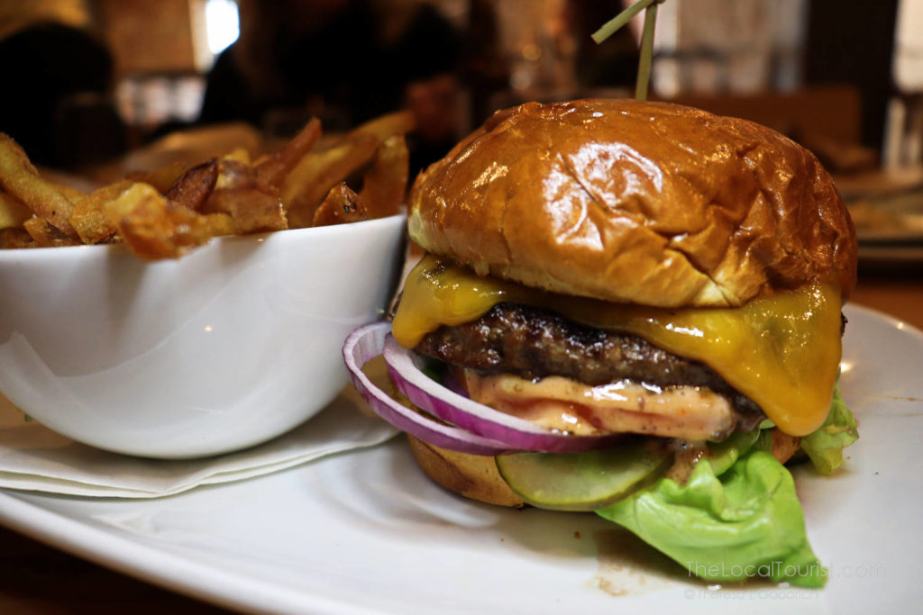 """Classic"" burger and fries at Duke's Alehouse & Kitchen, an excellent Crystal Lake restaurant"
