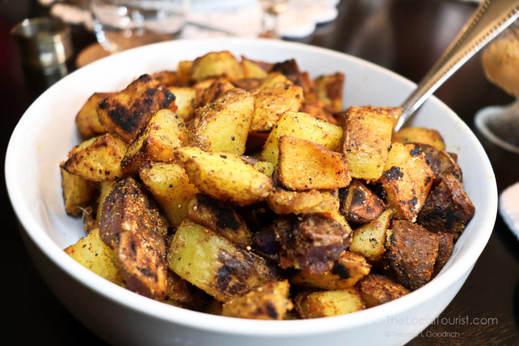 Perfect roasted potatoes served for breakfast at Cherry Tree Inn, site of Groundhog Day