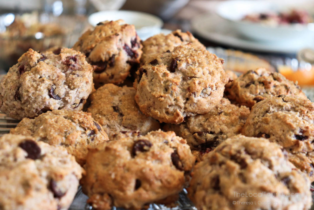 Chocolate cherry scones, made fresh and served for breakfast at Cherry Tree Inn in McHenry County IL