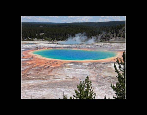 Grand Prismatic Spring at Yellowstone National Park, 8 x 10 with 11 x 14 black mat