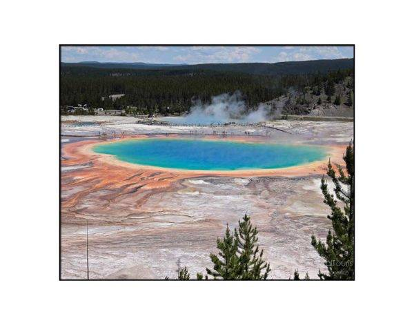 Grand Prismatic Spring at Yellowstone National Park, 8 x 10 with 11 x 14 white mat
