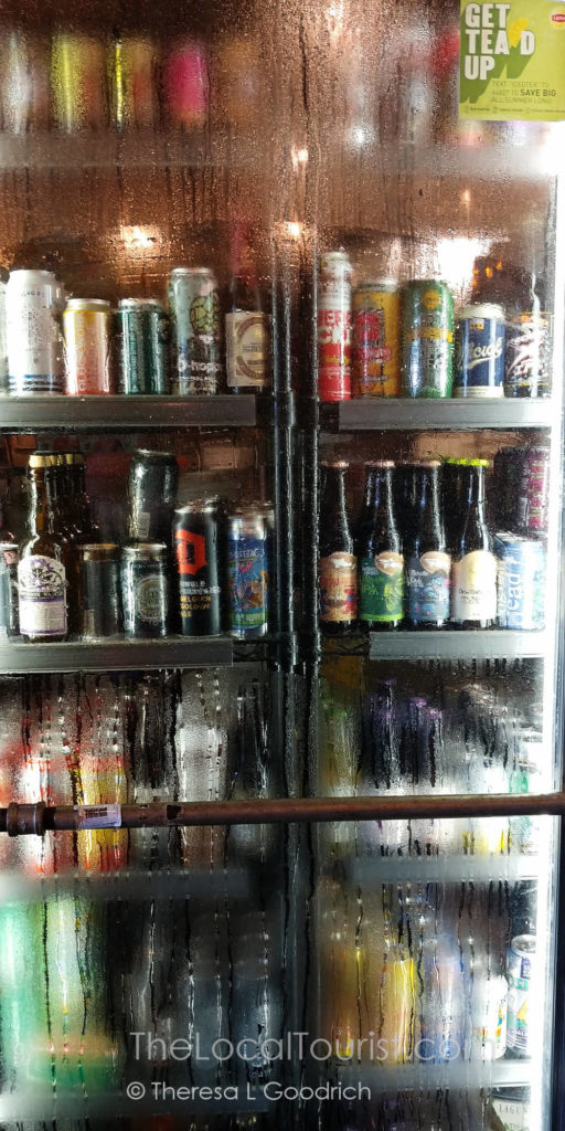 Cooler full of craft beer at Rusted Silo