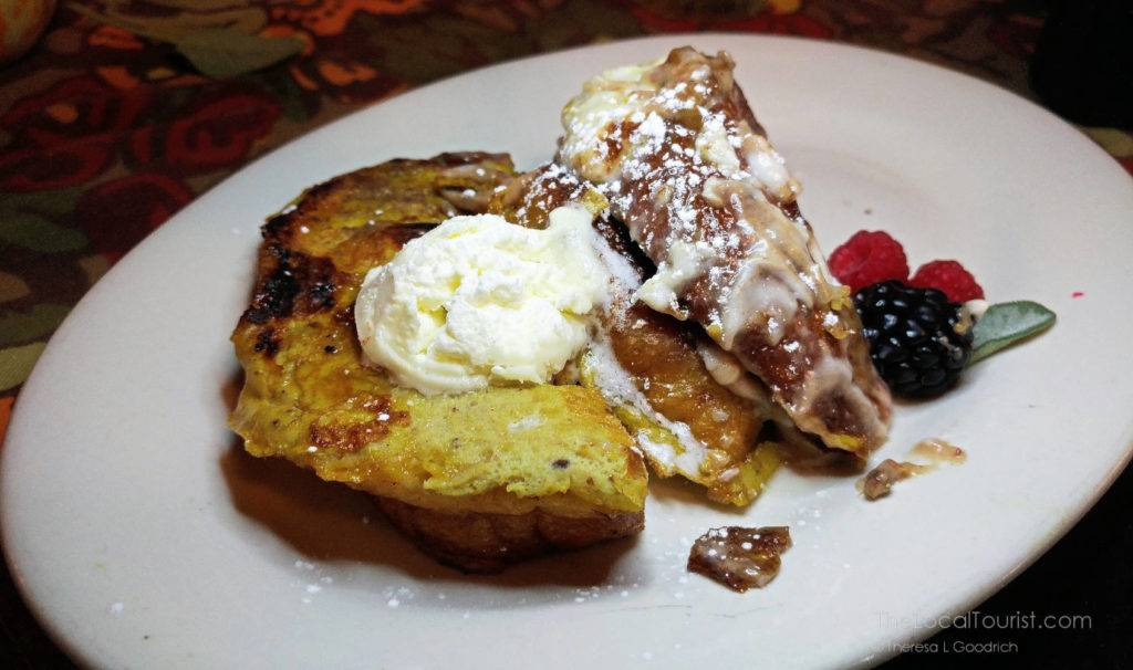 Cinnamon roll French Toast from Bread Basket Cafe and Bakery