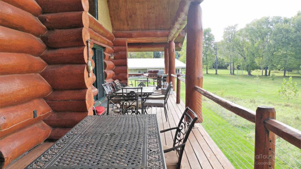 Wonderful deck at Natural Valley Ranch