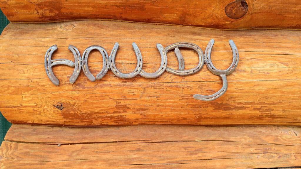 Howdy sign at Natural Valley Ranch