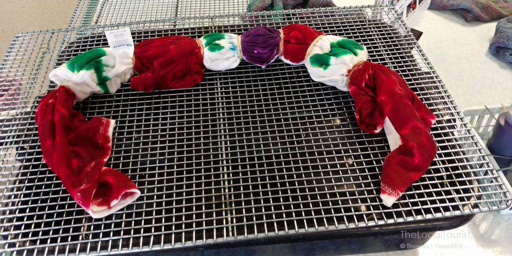 Dyeing the shirt at the Tie Dye Lab