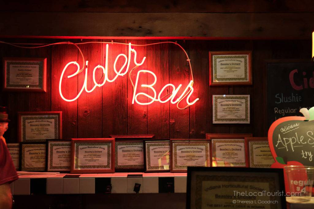 Cider Bar at Beasley's Orchards in Hendricks County