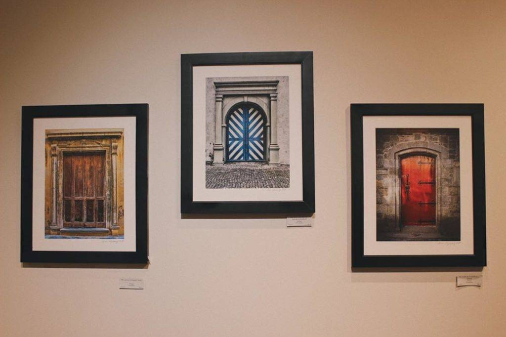 Photos of ancient gates on display at Artists' Own