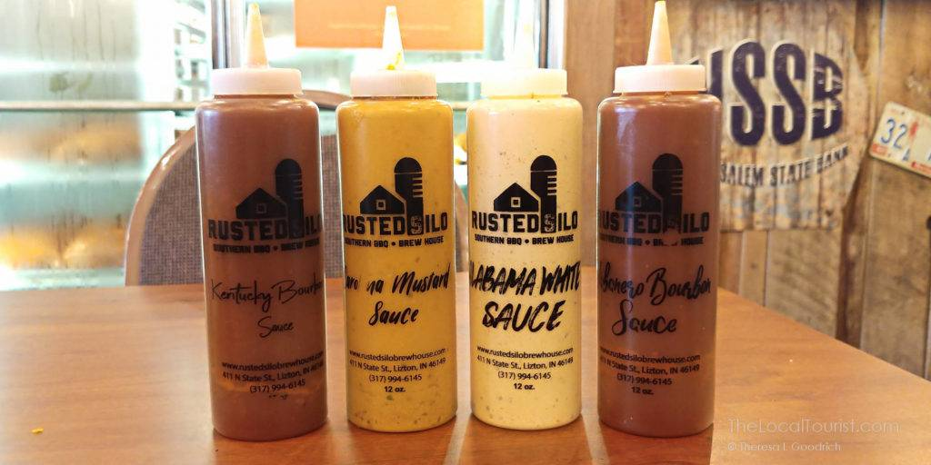 Housemade sauces at Rusted Silo