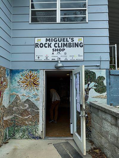 Miguel's rock climbing shop