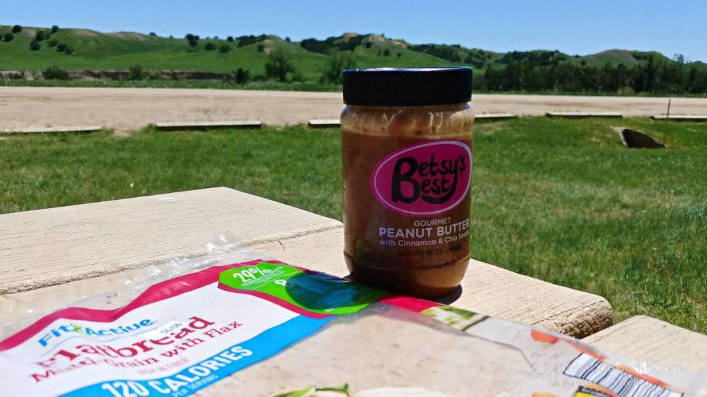 Betsy's Best gourmet nut butter in Badlands National Park