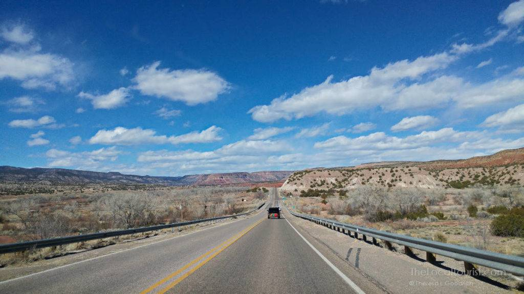 Road to Jemez Historical Site in New Mexico